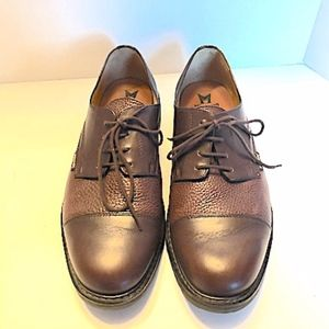 NEW MEN'S MEPHISTO BROWN LEATHER OXFORDS, SZ 11